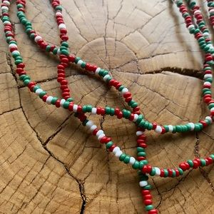 FREE ADD ON / String of Beads / Red and Green